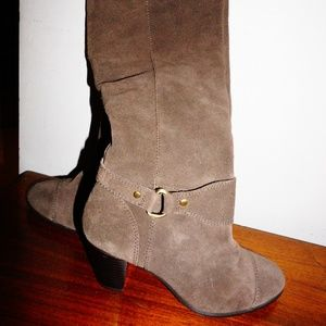 Giani Bernini Tall Leather Suede Heeled Boots